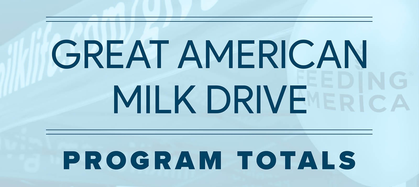 The 2021 Great American Milk Drive has ended!